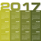 Calendario di progettazione moderna modello di progettazione di vettore di 2017 anni 12 supporti da gennaio-dicembre 2017 Fotografie Stock