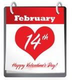 Calendario di San Valentino Fotografia Stock Libera da Diritti