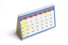 Calendario di scrittorio immagini stock libere da diritti