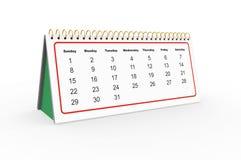 Calendario di scrittorio Immagine Stock