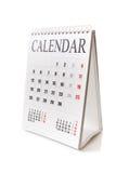 Calendario di scrittorio Fotografia Stock