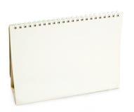 Calendario di scrittorio in bianco Immagine Stock