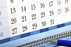 Calendario di scrittorio di aggancio Immagine Stock Libera da Diritti