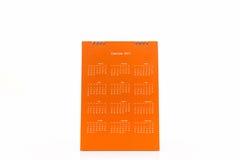 Calendario 2017 di spirale dello scrittorio del Libro Bianco Immagini Stock