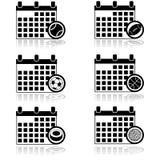 Calendario di sport illustrazione vettoriale