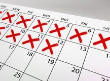 Calendario di vettore Fotografia Stock Libera da Diritti