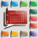 Calendario di vettore Fotografia Stock