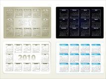 Calendario di vettore per 2010 Fotografia Stock
