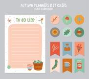 Calendario diario lindo y hacer la plantilla de la lista Imágenes de archivo libres de regalías