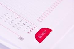 Calendario dicembre Fotografie Stock Libere da Diritti