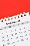 Calendario dicembre Fotografia Stock