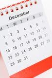 Calendario dicembre Immagini Stock