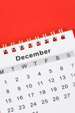 Calendario diciembre Foto de archivo