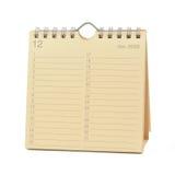 Calendario - diciembre de 2009 Foto de archivo libre de regalías