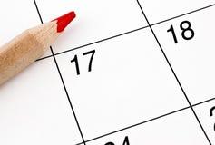 Calendario domestico Fotografie Stock Libere da Diritti