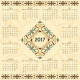 Calendario dos mil decimoséptimos años Foto de archivo libre de regalías