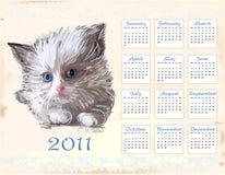 Calendario drenado mano 2011 Fotografía de archivo