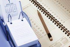 Calendario e pianificatore Fotografia Stock Libera da Diritti