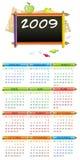 calendario educativo 2009 Fotos de archivo