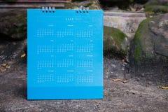 Calendario el próximo año 2560 2017, filtro del vintage Imagen de archivo libre de regalías