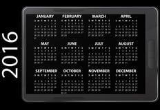 calendario elettronico 2016 Fotografia Stock Libera da Diritti