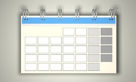 Calendario en blanco Fotos de archivo