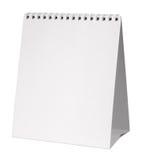 Calendario en blanco fotografía de archivo