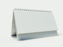 Calendario en blanco Fotografía de archivo libre de regalías