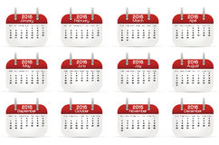 Calendario 2015 en lengua inglesa fotos de archivo