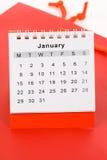 Calendario enero imagen de archivo