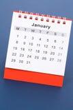 Calendario enero fotos de archivo libres de regalías