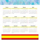 Calendario español 2017 Foto de archivo