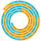 calendario espiral 2015 stock de ilustración