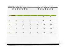 Calendario espiral del escritorio con días y fechas en abril de 2016 Imagenes de archivo