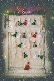 Calendario fatto a mano di arrivo Immagini Stock