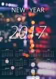 calendario feliz 2017 Foto de archivo libre de regalías