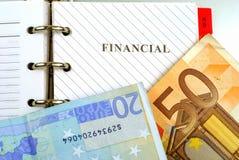 Calendario finanziario Fotografie Stock Libere da Diritti