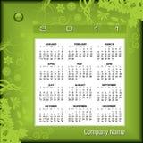 calendario floreale 2011 illustrazione di stock