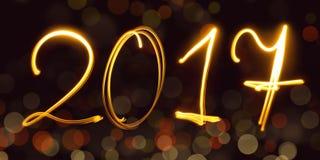 Calendario, freezelight, bokeh, 2017 Fotografía de archivo libre de regalías