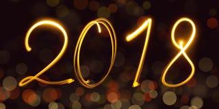 Calendario, freezelight, bokeh, 2018 Fotos de archivo libres de regalías