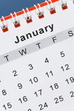 Calendario gennaio fotografie stock