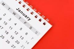 Calendario gennaio Fotografie Stock Libere da Diritti