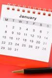 Calendario gennaio Immagini Stock Libere da Diritti