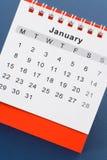 Calendario gennaio Fotografia Stock Libera da Diritti