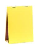 Calendario giallo in bianco Fotografie Stock Libere da Diritti