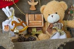 Calendario hecho de madera Foto de archivo libre de regalías