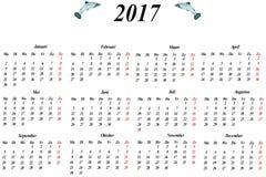Calendario holandés Fotografía de archivo libre de regalías
