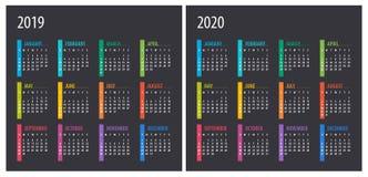 2019 2020 calendario - illustrazione mascherina Derisione su royalty illustrazione gratis