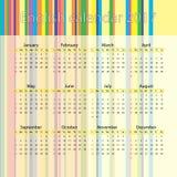 Calendario inglés 2017 Fotografía de archivo