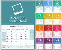 Calendario inglese 2018 Immagine Stock